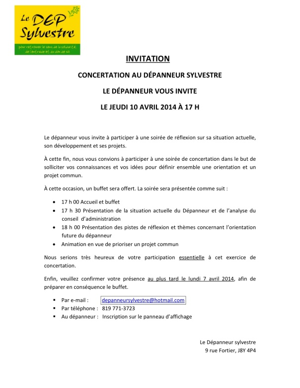 INVITATION - 10 avril 2014