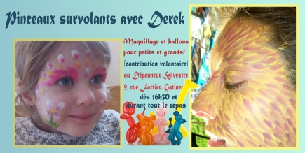 Derek et pinceaux